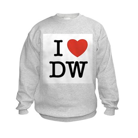 I Heart DW Kids Sweatshirt