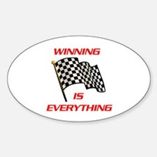 WINNING CHOICE Oval Bumper Stickers