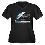 Much Ado v.1 Women's Plus Size V-Neck Dark T-Shirt