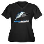 Much Ado v.2 Women's Plus Size V-Neck Dark T-Shirt