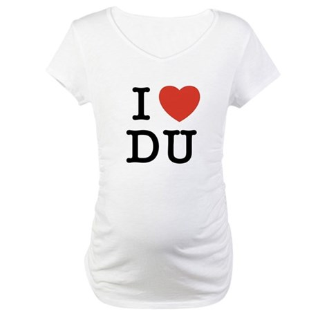 I Heart DU Maternity T-Shirt