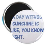 "A day with no sunshine 2.25"" Magnet (100 pack)"
