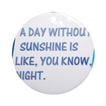 A day with no sunshine Ornament (Round)