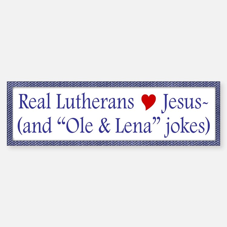 Jesus and Ole and Lena Jokes Bumper Bumper Bumper Sticker