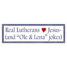 Jesus and Ole and Lena Jokes Bumper Car Car Sticker