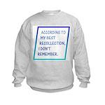 I Don't Remember Kids Sweatshirt