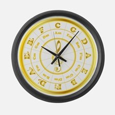 """Gold"" Circle of Fifths Large Wall Clock"