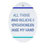 Raise My Hand Oval Ornament