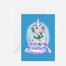 Dalmatian Cake Face Birthday Greeting Cards (20)