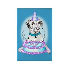 Dalmatian Cake Face Birthday Rectangle Magnet