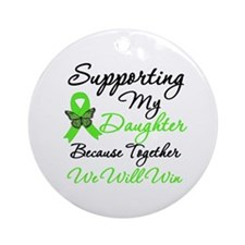 Lymphoma Support (Daughter) Ornament (Round)