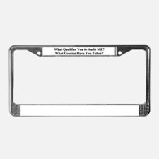 Cute Auditing License Plate Frame