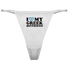 I love My Greek Boyfriend Classic Thong