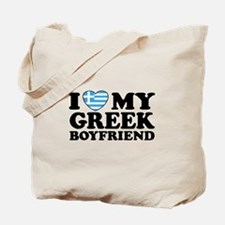 I love My Greek Boyfriend Tote Bag