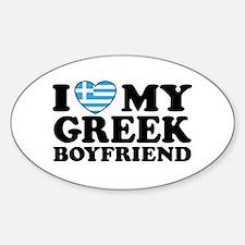 I love My Greek Boyfriend Oval Decal
