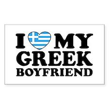 I love My Greek Boyfriend Rectangle Decal