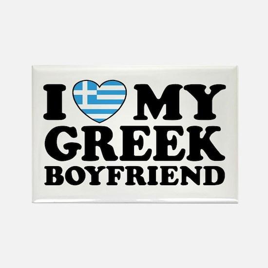 I love My Greek Boyfriend Rectangle Magnet