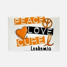 PEACE LOVE CURE Leukemia (L1) Rectangle Magnet