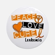 PEACE LOVE CURE Leukemia (L1) Ornament (Round)