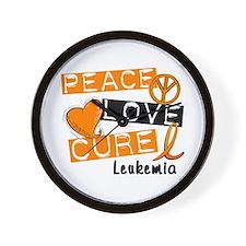 PEACE LOVE CURE Leukemia (L1) Wall Clock