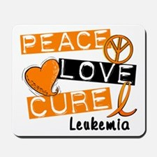PEACE LOVE CURE Leukemia (L1) Mousepad
