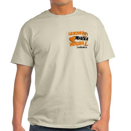 PEACE LOVE CURE Leukemia (L1) Light T-Shirt