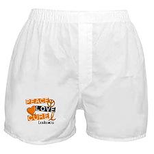 PEACE LOVE CURE Leukemia (L1) Boxer Shorts