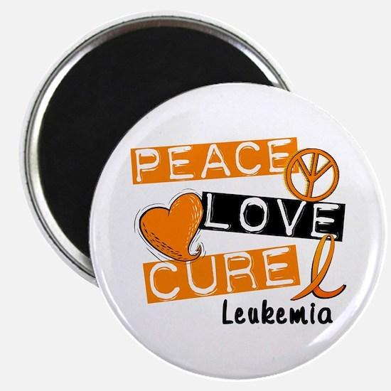 PEACE LOVE CURE Leukemia (L1) Magnet