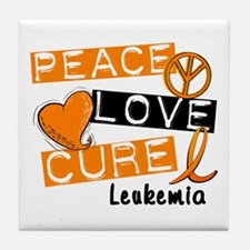 PEACE LOVE CURE Leukemia (L1) Tile Coaster