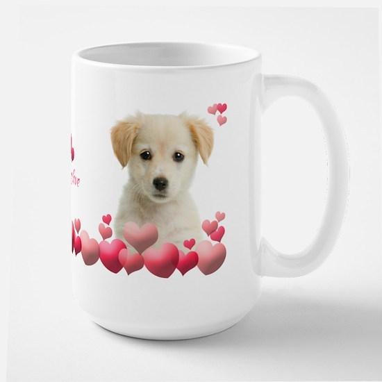 Puppy Love Large Mug