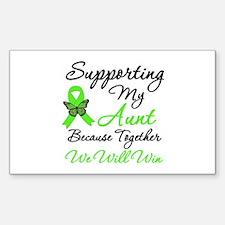 Lymphoma Support (Aunt) Rectangle Sticker 10 pk)