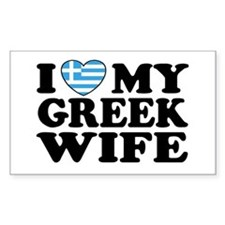 I love My Greek Wife Rectangle Decal