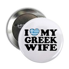 I love My Greek Wife Button