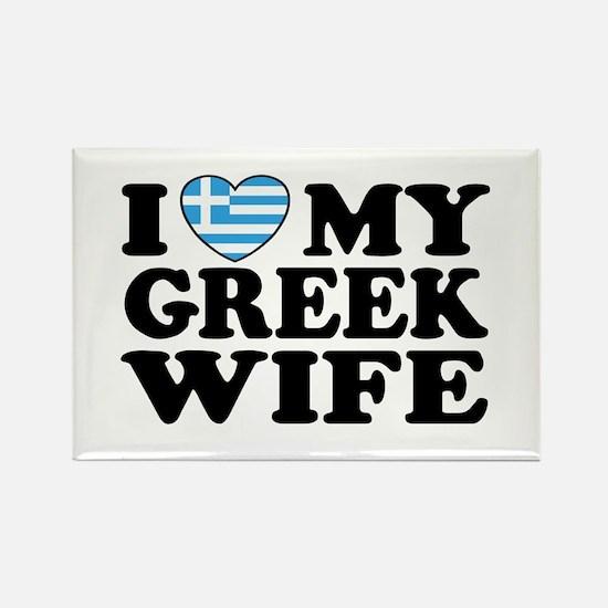I love My Greek Wife Rectangle Magnet