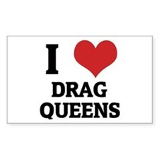 I Love Drag Queens Rectangle Decal
