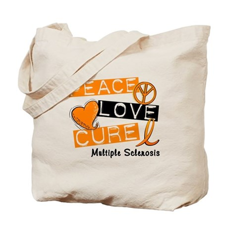 PEACE LOVE CURE MS Tote Bag