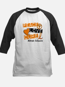 PEACE LOVE CURE MS Kids Baseball Jersey