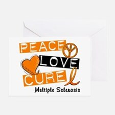PEACE LOVE CURE MS Greeting Card