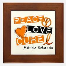 PEACE LOVE CURE MS Framed Tile