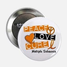 """PEACE LOVE CURE MS 2.25"""" Button (10 pack)"""