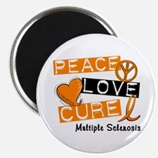 "PEACE LOVE CURE MS 2.25"" Magnet (100 pack)"