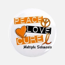 """PEACE LOVE CURE MS 3.5"""" Button (100 pack)"""