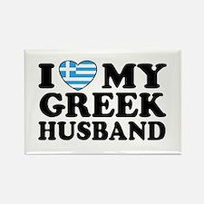 I love My Greek Husband Rectangle Magnet