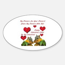 Squirrel Love Oval Decal