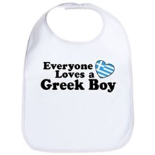 Everyone Loves a Greek Boy Bib