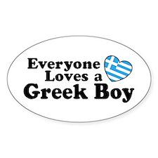 Everyone Loves a Greek Boy Oval Decal
