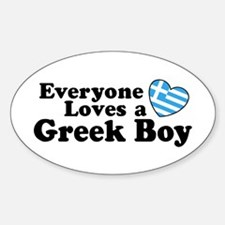 Everyone Loves a Greek Boy Oval Decal