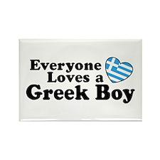 Everyone Loves a Greek Boy Rectangle Magnet