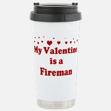 Valentine: Fireman Travel Mug