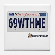 69WTHME Tile Coaster